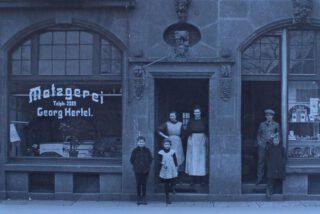 Metzgerei Hertel 1908 in Mannheim
